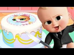baby boss making cake real cake maker 3d fun cooking kids games