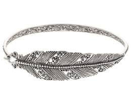 silver leaf bracelet images Gem collection of bali tm sterling silver leaf bangle bracelet jpg&a