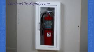 jl industries fire extinguisher cabinets semi recessed fire extinguisher cabinet jl industries youtube