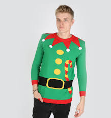 knitted christmas elf sweater green body ugly christmas sweaters