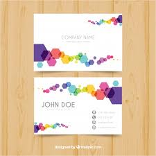 colorful business card vector free download