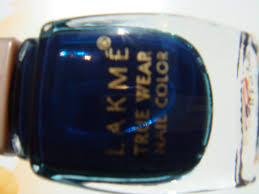indian beauty central lakme true wear nail polish dark blue