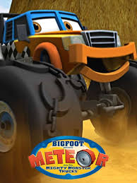 videos of monster trucks for kids tv bigfoot presents meteor and the mighty monster trucks show
