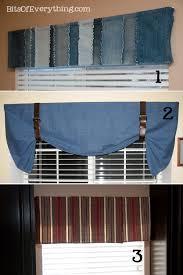 Denim Curtain Simple Valance Curtain Ideas Bits Of Everything