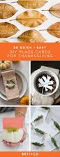 thanksgiving dinner place cards 30 quick and easy diy place cards for your thanksgiving table