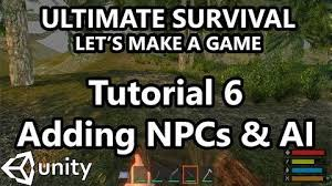 unity tutorial enemy ai video 6 unity tutorial how to make a survival game adding
