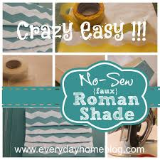 Easy No Sew Curtains No Sew Roman Shade The Everyday Home