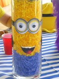 minions centerpieces minion despicable me birthday party ideas pink lover