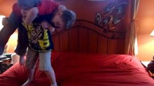 wwe kids wrestling using parents bed as ring rey mysterio cries