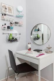 Ikea Mirror Vanity Ikea Micke As Vanity Desk In White Room With Large Grundtal Mirror