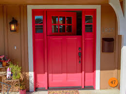 Unique Front Doors Front Doors Unique Coloring Red Front Doors With Glass 8 Red