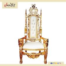 Throne Style Chair Sale Fancy Royal Style Gold Throne Chairs Luxury Wedding Buy