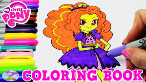 mlp eg coloring pages my little pony coloring book mlp eg adagio dazzle colors episode
