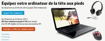 achat pc bureau hp 70 euros remboursés pour l achat d un pc et d un accessoire