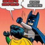 Batman Robin Meme Generator - lego batman slapping robin meme generator imgflip