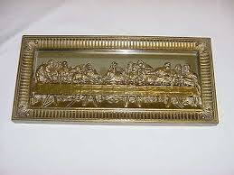 homco home interior gold framed last supper picture mirror wall decor homco home