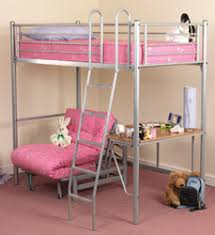 High Sleeper With Futon And Desk High Sleeper Loft Beds From Rainbow Wood