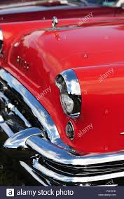 the front end of the 1950s buick with chrome bumper and