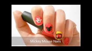 mickey mouse nail art tutorial youtube