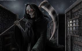cool halloween background download scary grim reaper