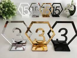 Table Numbers Wedding Geometric Table Numbers Hexagon Wedding Table Numbers Reception
