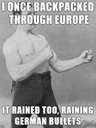Old Boxer Meme - i was telling my year old grandpa about how it rained on my
