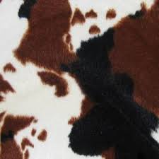 Cowhide Print Cow Fur Fabric