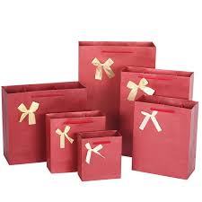 high quality paper gift bags korean style fashion bow birthday new