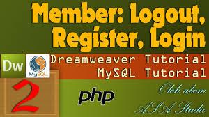 membuat login dengan php di dreamweaver logout register login member area 2 membuat database