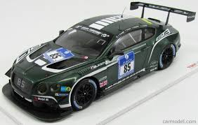 bentley racing green truescale tsm161807r scale 1 18 bentley continental gt3 n 85 24h