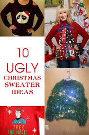 Ugly Christmas Sweater Decorations Make Your Own U0027ugly U0027 Christmas Sweater With These 10 Inspiring Ideas