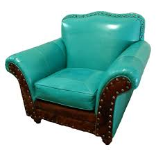 Western Living Room Lamps Albuquerque Turquoise Club Chair