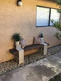 the pry posse diy cinder block bench front garden pinterest