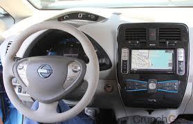 nissan leaf 2016 interior test drive nissan leaf techcrunch