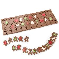 christmas handcrafted milk chocolate puzzle gift box u2022 holiday nut