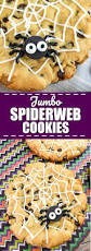 jumbo spiderweb cookies recipe halloween party treats easy
