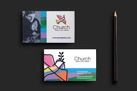 modern church business card template for photoshop u0026 illustrator