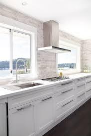 white kitchen no cabinets no cabinets contemporary kitchen moeski design
