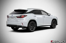 white lexus rx 450h 2017 lexus rx 450h f sport rear right quarter autobics