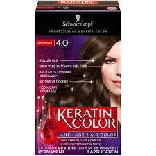 Color Eazy Hair Dye Review Schwarzkopf Keratin Anti Age Hair Color Cappuccino 4 0 2 03