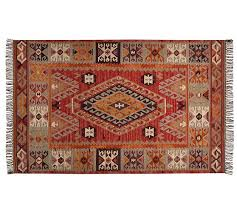 Pottery Barn Runner Rug Cyndy Kilim Recycled Yarn Indoor Outdoor Rug Pottery Barn