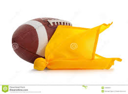 Yellow And White Flag Football And Penalty Flag On White Stock Image Image 13900921