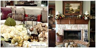 Home Decor Family Room Festive Fall Home Tour 2017 Steeplechase Manor