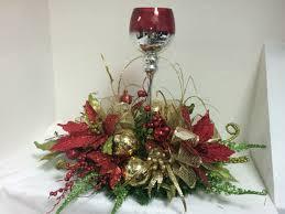 centro de mesa con copas navidad pinterest