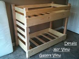small crib size toddler bunk bed plans bunk beds pinterest