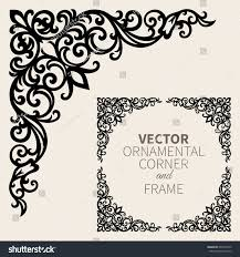 vector ornamental corner frame stock vector 607934072