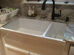 Dining  Kitchen Cool Ways To Install Farmhouse Sinks To Your - Porcelain undermount kitchen sink