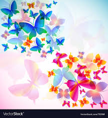 colorful butterfly background royalty free vector image