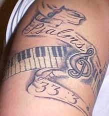 music tattoos designs