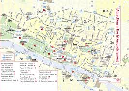 Map Of Paris Metro Paris Metro Map With Main Tourist Attractions For Of France And
